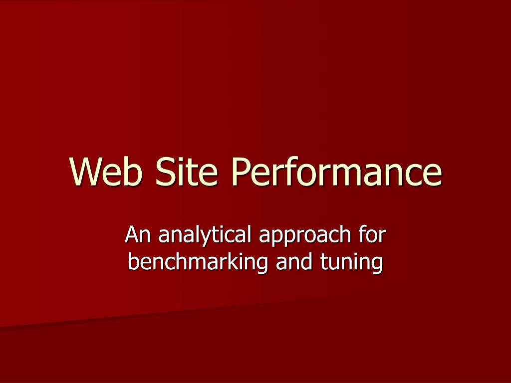 web site performance l.