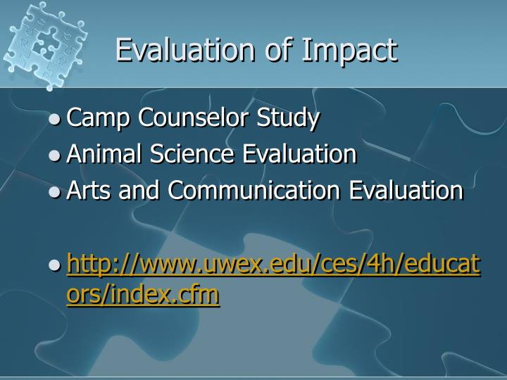 Evaluation of Impact