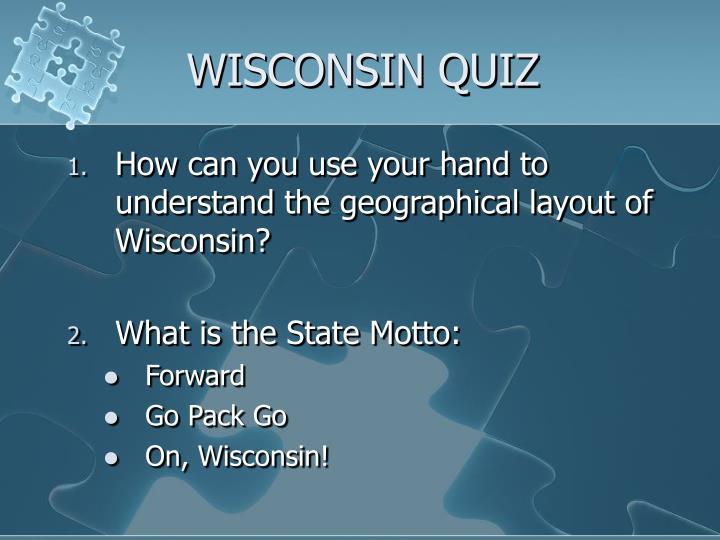 Wisconsin quiz