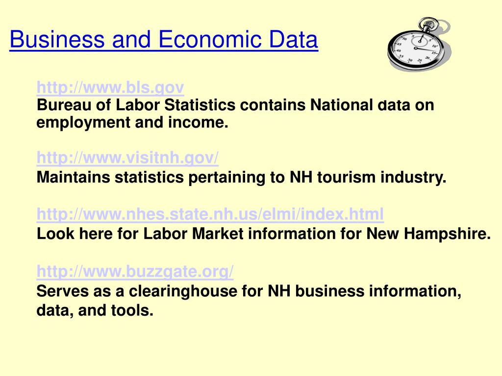 Business and Economic Data