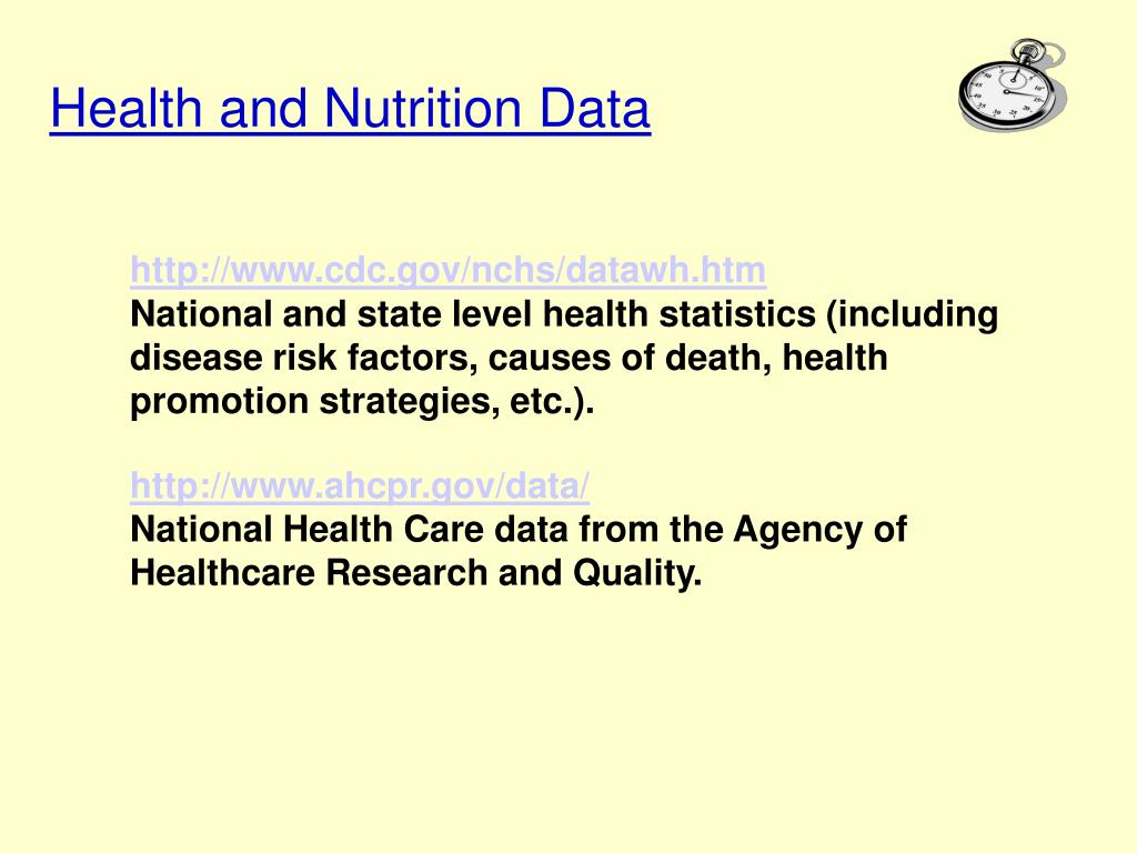 Health and Nutrition Data