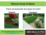 different kinds of mulch
