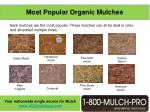 most popular organic mulches