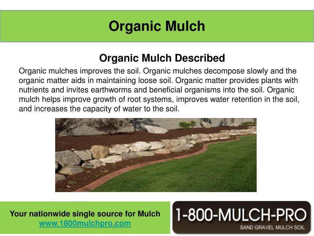 Organic Mulch Described