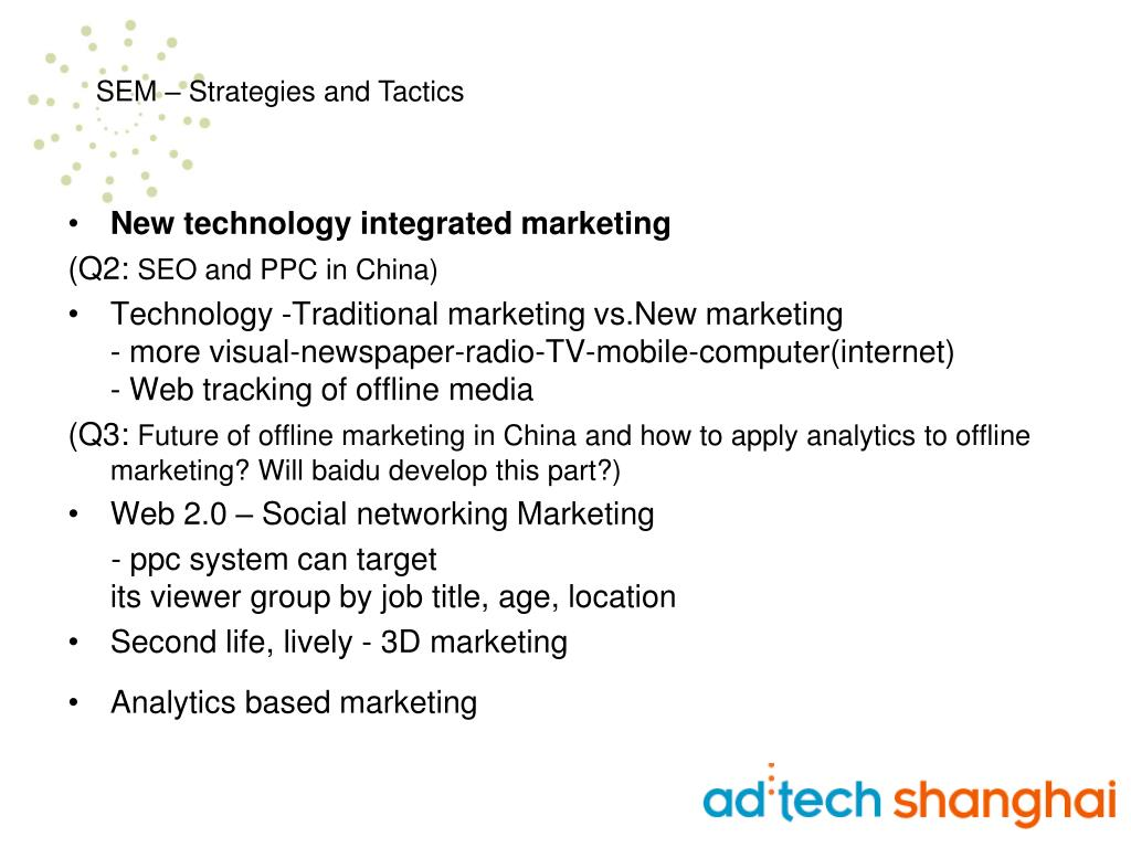 New technology integrated marketing