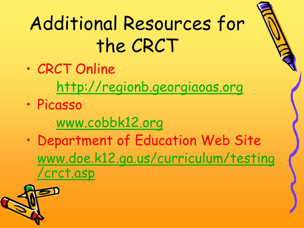 Additional Resources for the CRCT