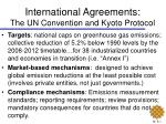 international agreements the un convention and kyoto protocol