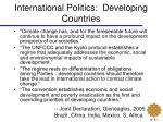 international politics developing countries