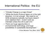 international politics the eu