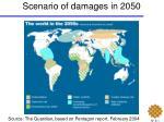 scenario of damages in 2050