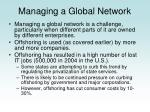 managing a global network