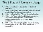 the 5 eras of information usage