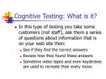 cognitive testing what is it