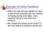example of using feedback