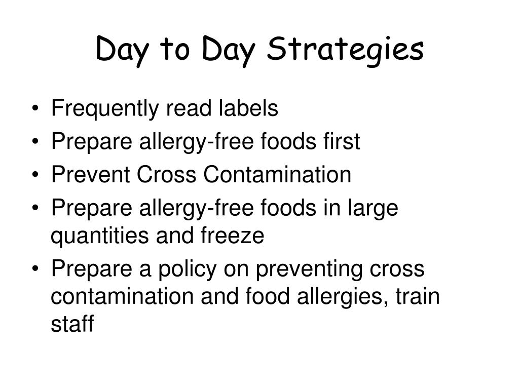 Day to Day Strategies