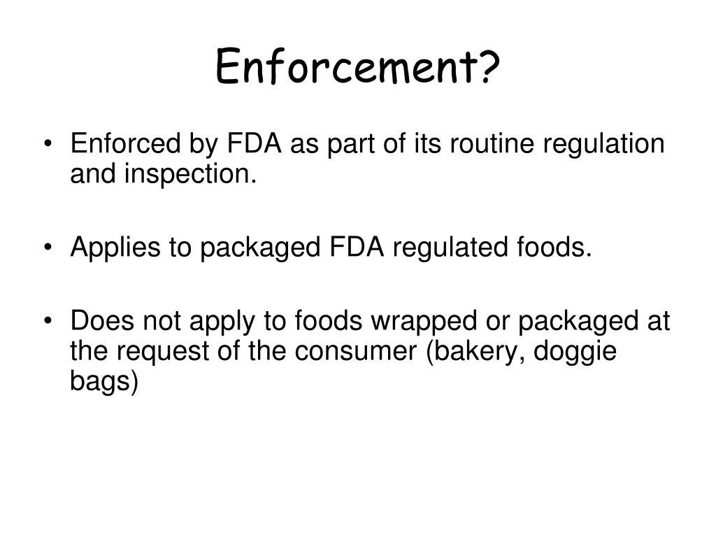 Enforcement?