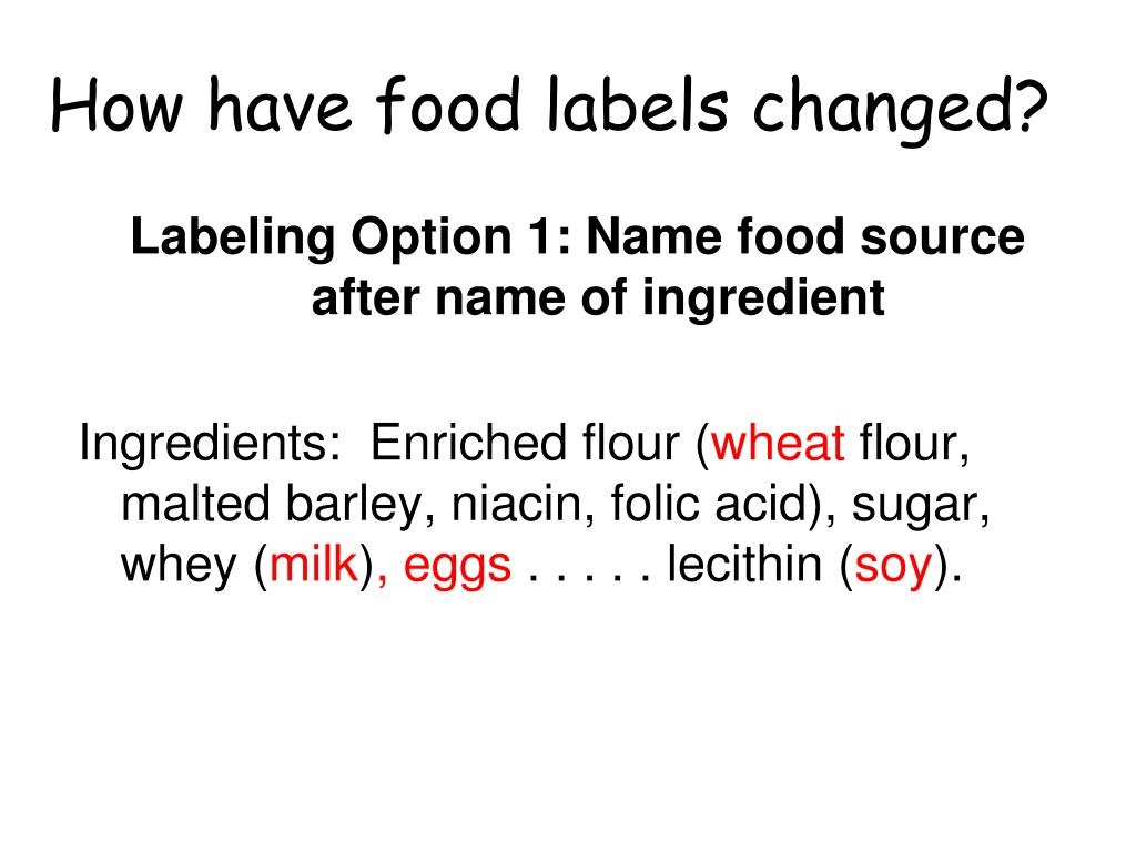 How have food labels changed?