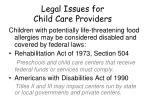 legal issues for child care providers