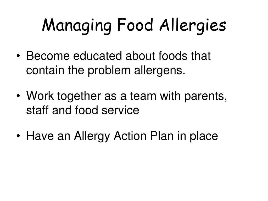 Managing Food Allergies