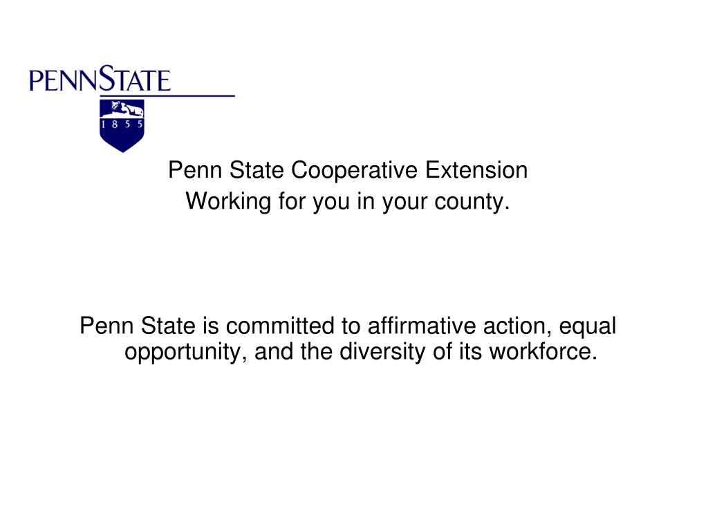 Penn State Cooperative Extension