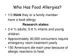 who has food allergies