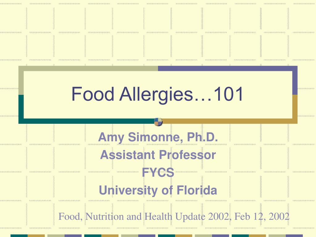 food allergies 101 l.