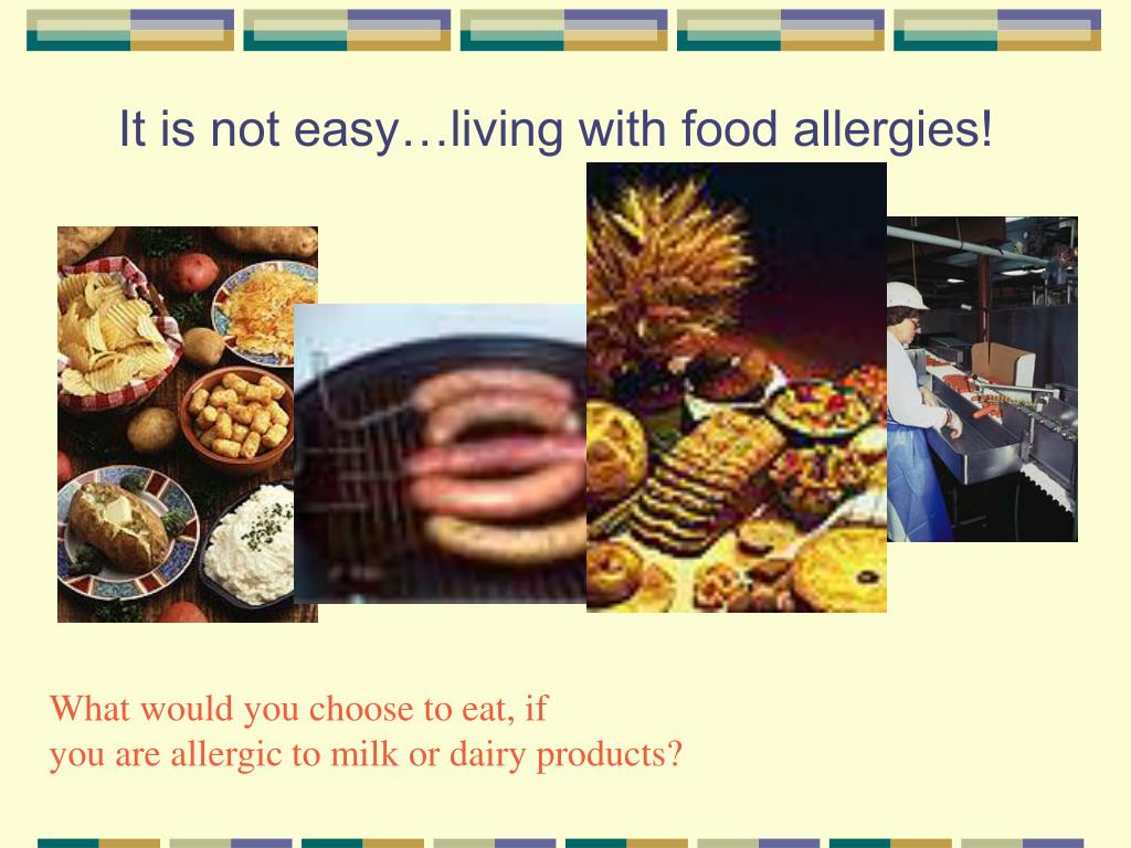 It is not easy…living with food allergies!