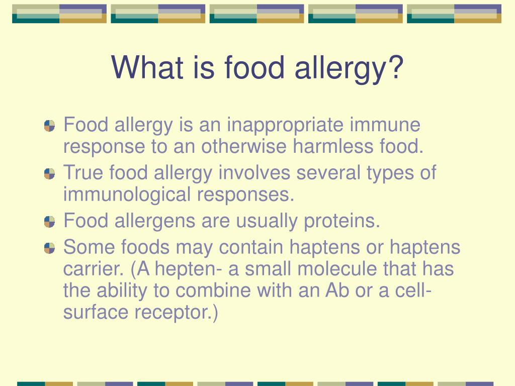 What is food allergy?