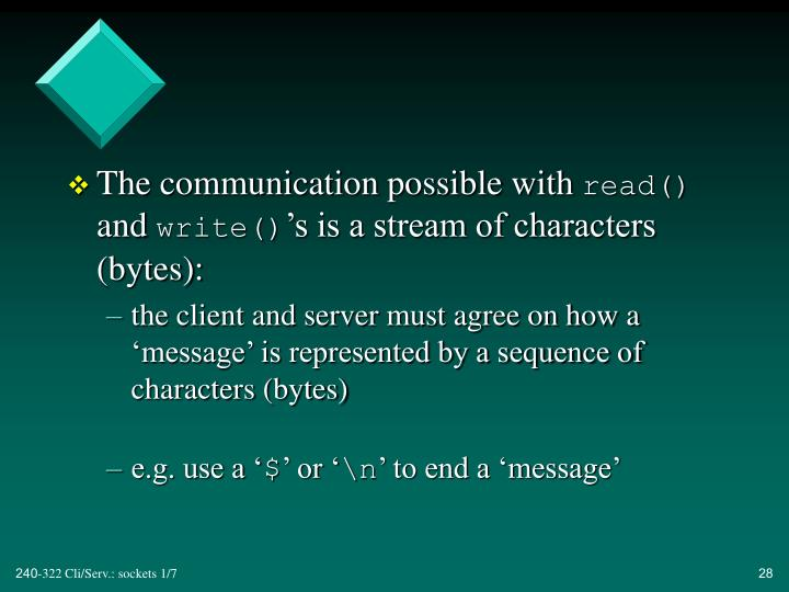 The communication possible with