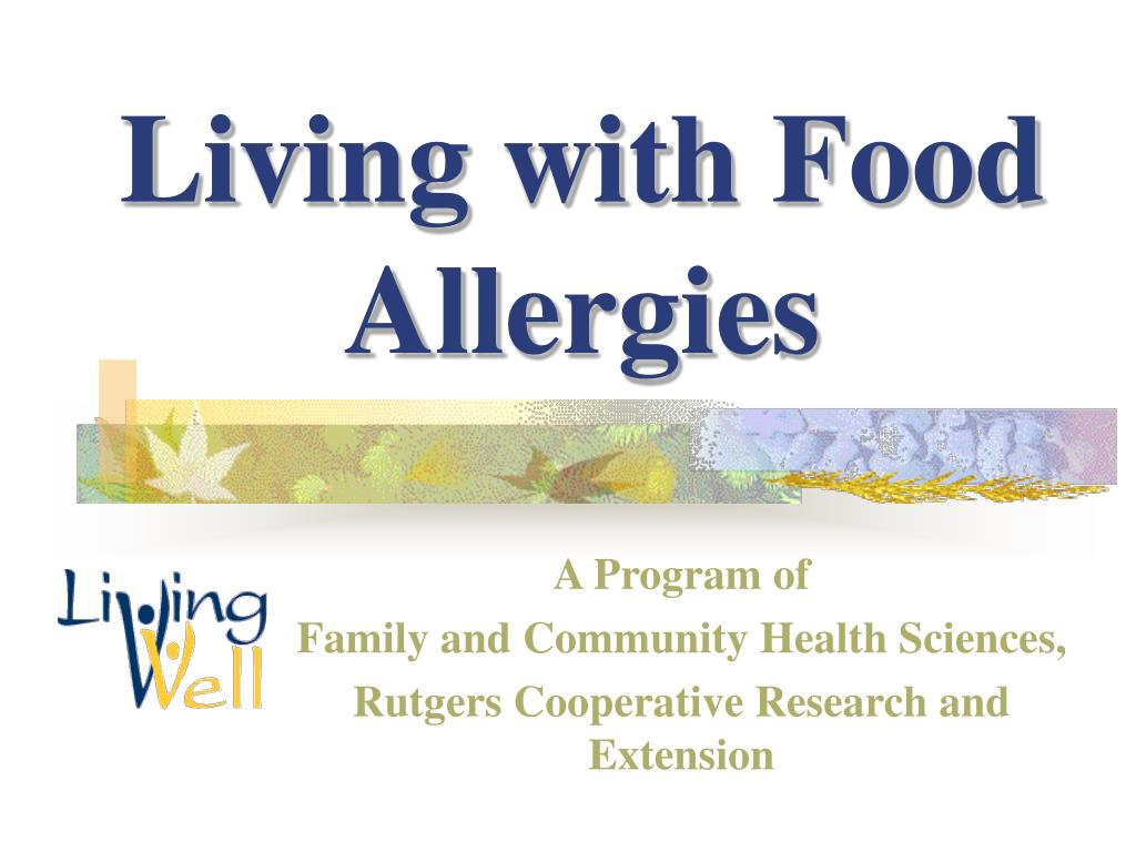 living with food allergies l.