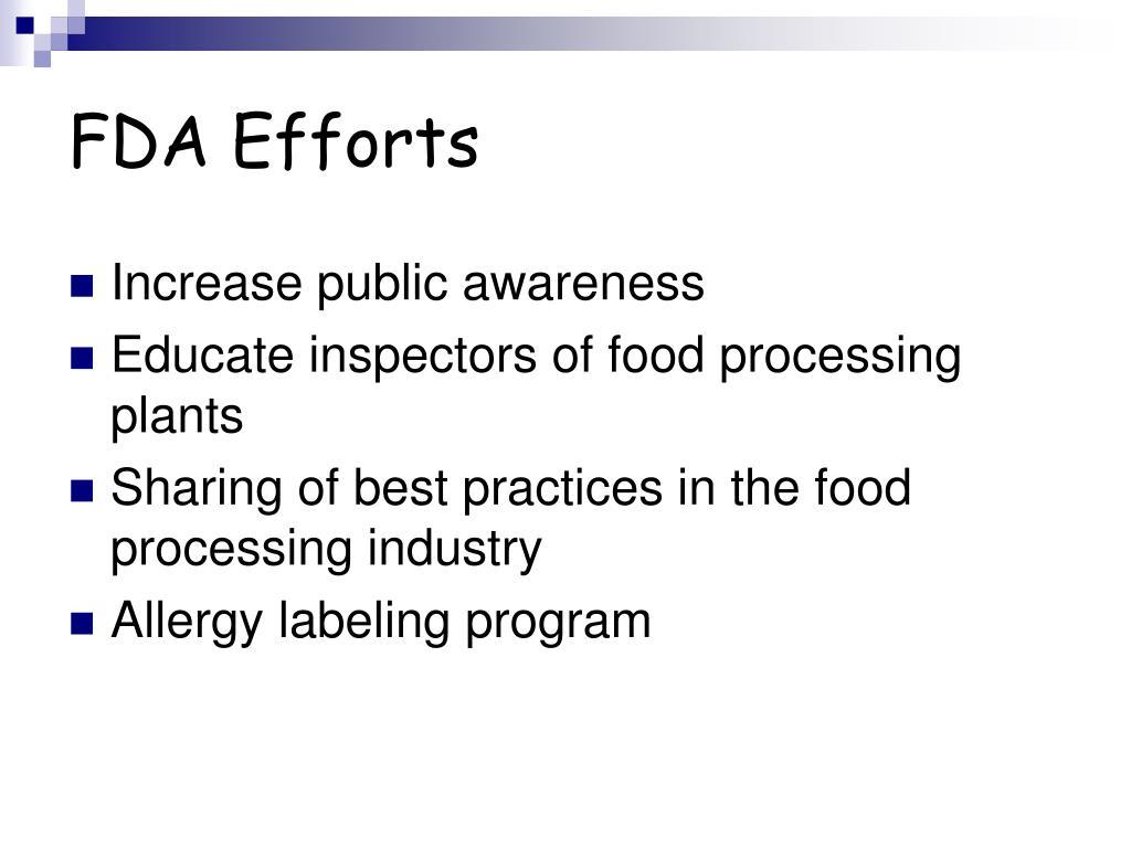 FDA Efforts