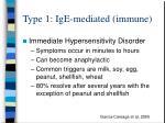 type 1 ige mediated immune