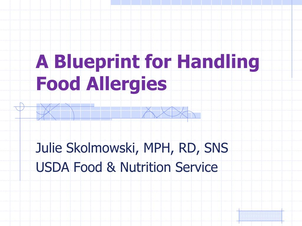 a blueprint for handling food allergies l.