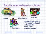 food is everywhere in schools