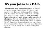 it s your job to be a p a l