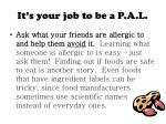 it s your job to be a p a l6