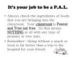 it s your job to be a p a l7