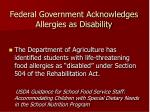 federal government acknowledges allergies as disability19