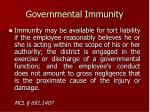 governmental immunity