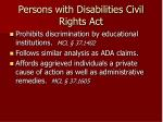 persons with disabilities civil rights act