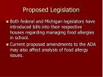 proposed legislation