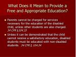 what does it mean to provide a free and appropriate education
