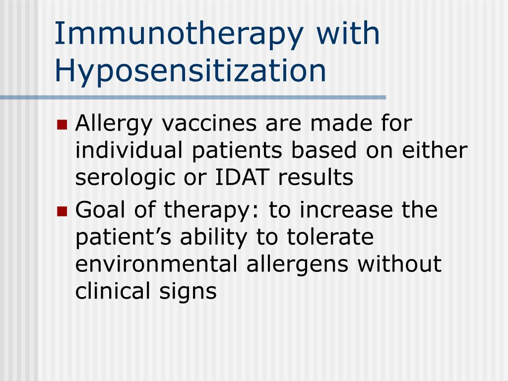 Immunotherapy with Hyposensitization