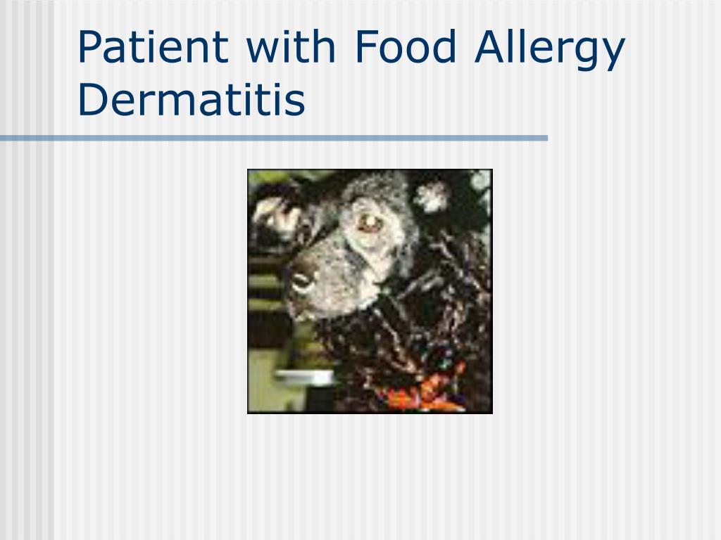 Patient with Food Allergy Dermatitis