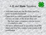 4 h and state taxation
