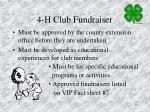 4 h club fundraiser