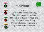 4 h pledge