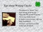 tips about writing checks