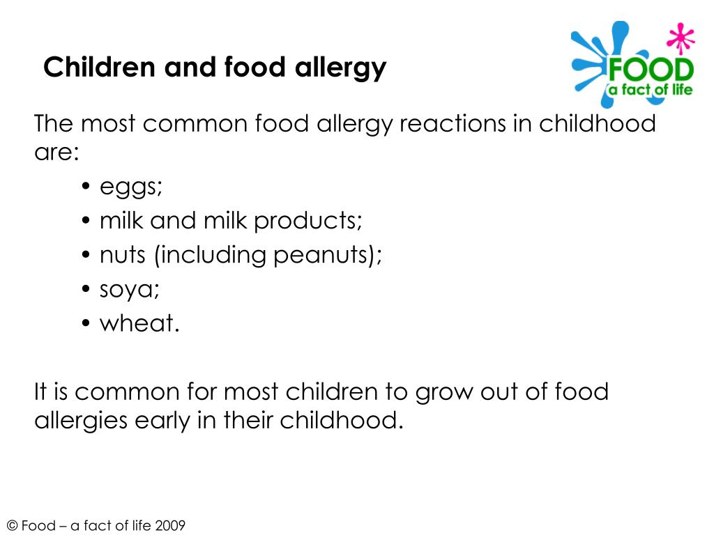 Children and food allergy
