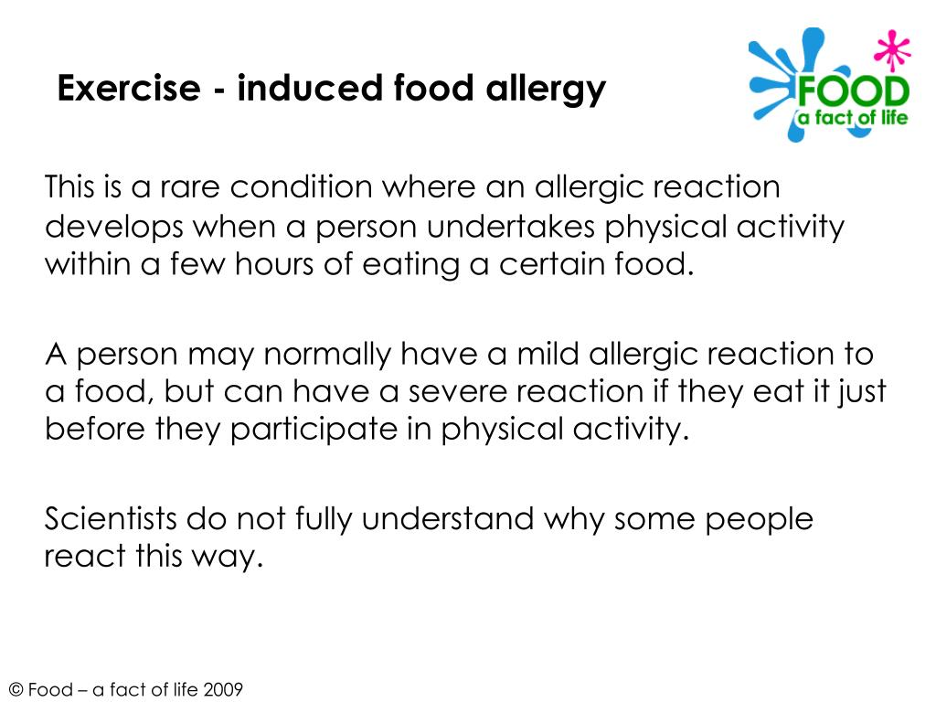 Exercise - induced food allergy